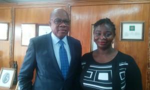 Olisa Agbakoba, Maritime Development Lawyer and Ezinne Azunna,editor www.thenigerianmaritimenews.com