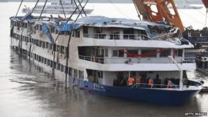 China Boat Mishap. Photo Credit: BBC
